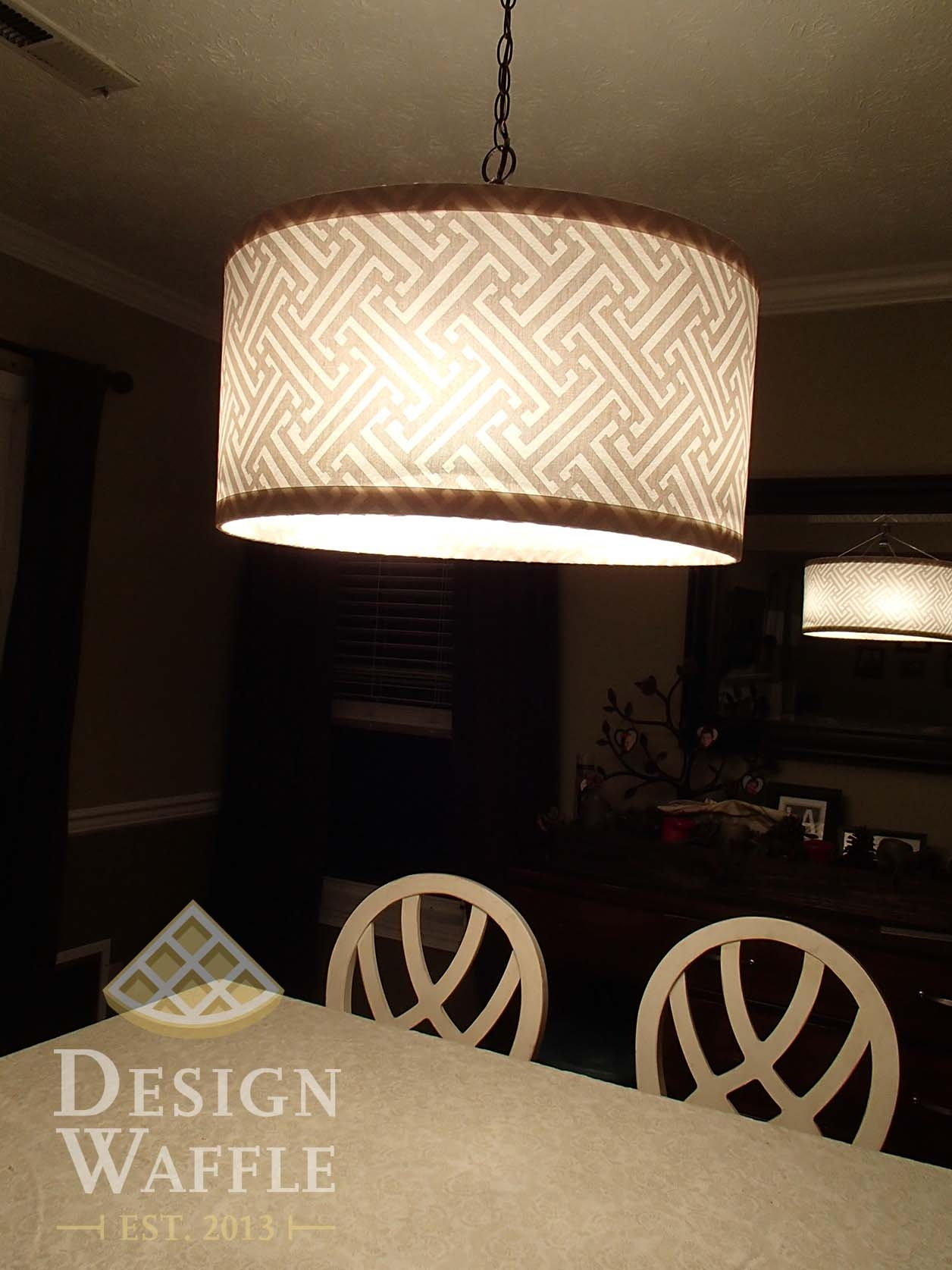 Diy Chandelier Drum Shade Design Waffle With Drum Lamp Shades For Chandeliers (View 13 of 25)