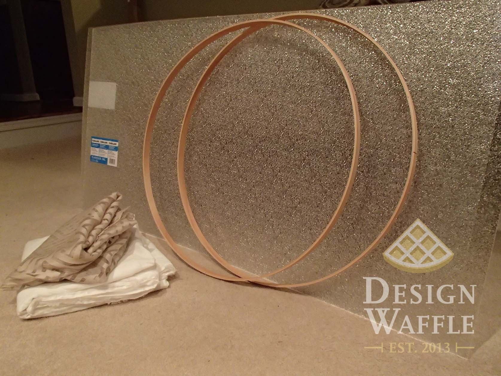 Diy Chandelier Drum Shade Design Waffle Within Fabric Drum Shade Chandeliers (Image 10 of 25)