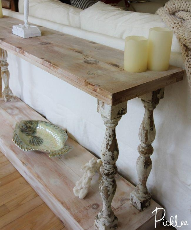 Diy French Country Sofa Table – Absolutely Love This And Have Been In Country Sofa Tables (Image 13 of 20)