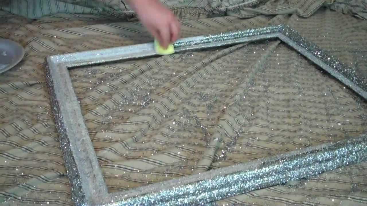 Diy Glitter Frame – Youtube In Glitter Frame Mirror (Image 5 of 20)