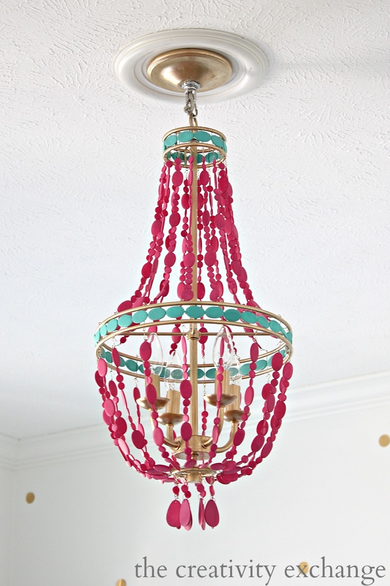 Diy Painted Empire Chandelier Intended For Turquoise Empire Chandeliers (Image 15 of 25)