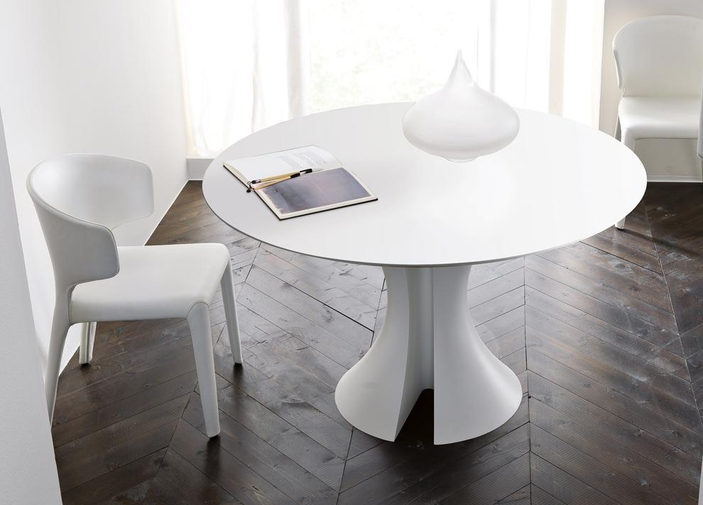 Diy Painting White Round Dining Table — The Home Redesign With White Circle Dining Tables (Image 11 of 20)