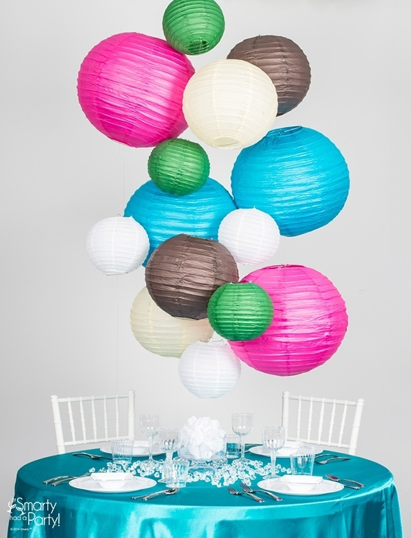 Diy Paper Lantern Chandelier Smarty Had A Party Blog With Regard To Turquoise Lantern Chandeliers (View 17 of 25)