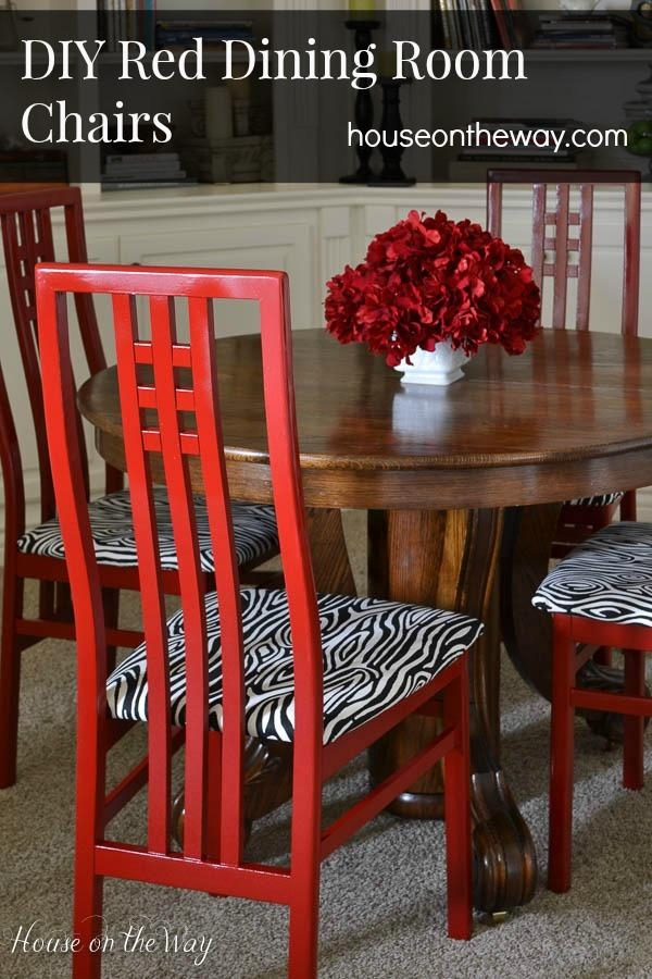 Diy Red Dining Room Chairs – House On The Way Inside Red Dining Tables And Chairs (Image 11 of 20)