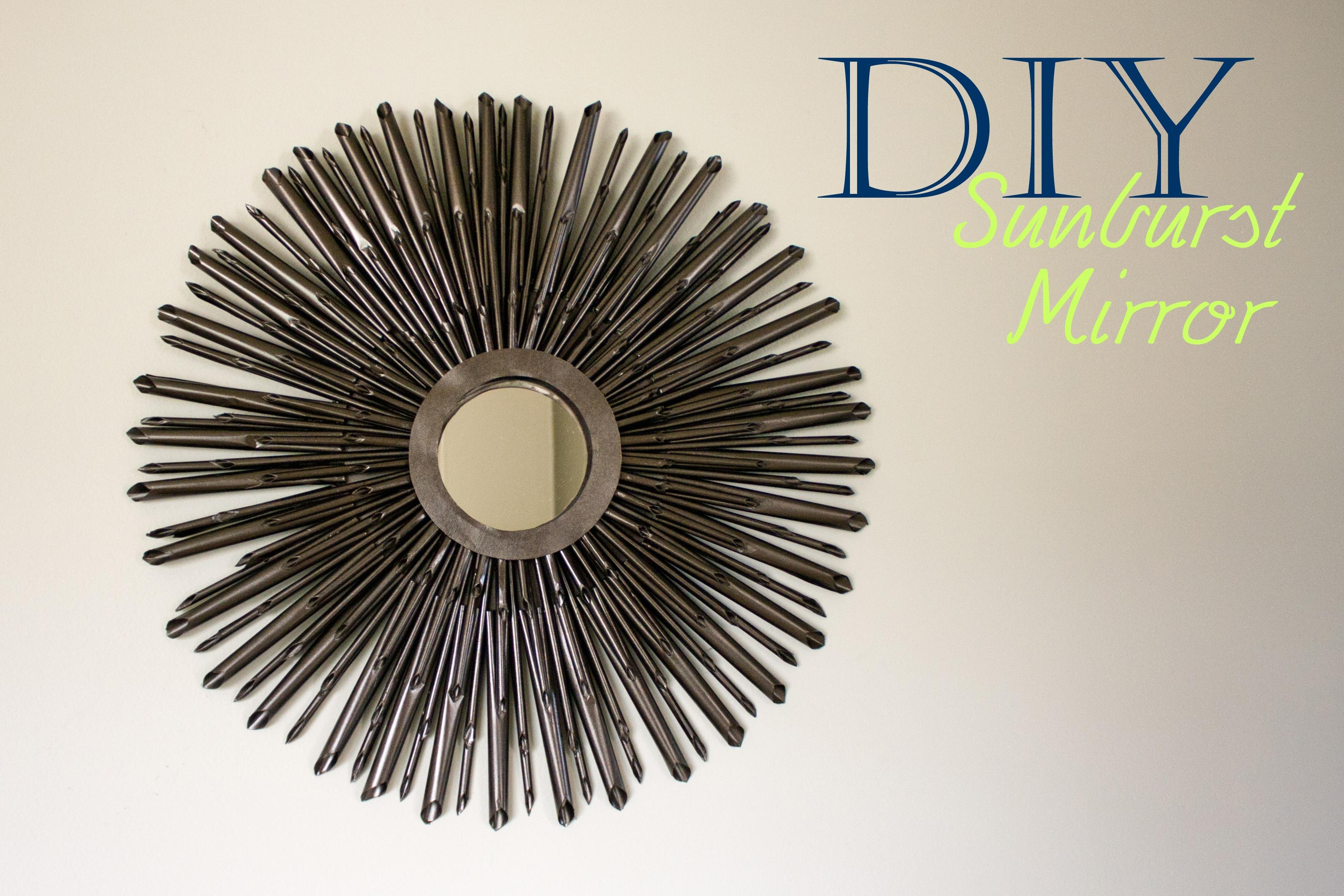 Diy Sunburst Mirror {Tutorial} | A Little Abandon Intended For Bronze Starburst Mirror (Image 7 of 21)