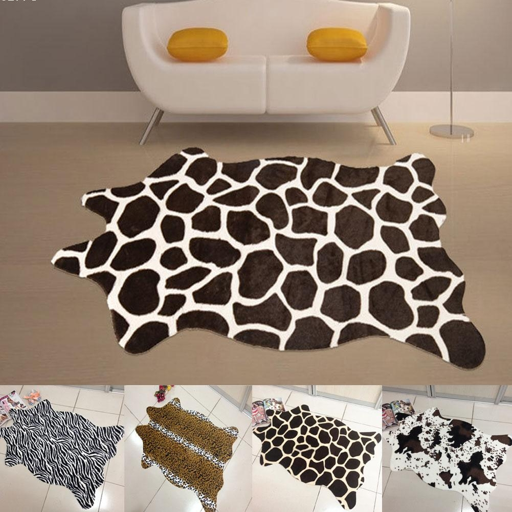 Diy Tutorial Faux Cowhide Rug Creative Window Coverings Modern With Regard To Cheap Faux Crystal Chandeliers (Image 17 of 25)