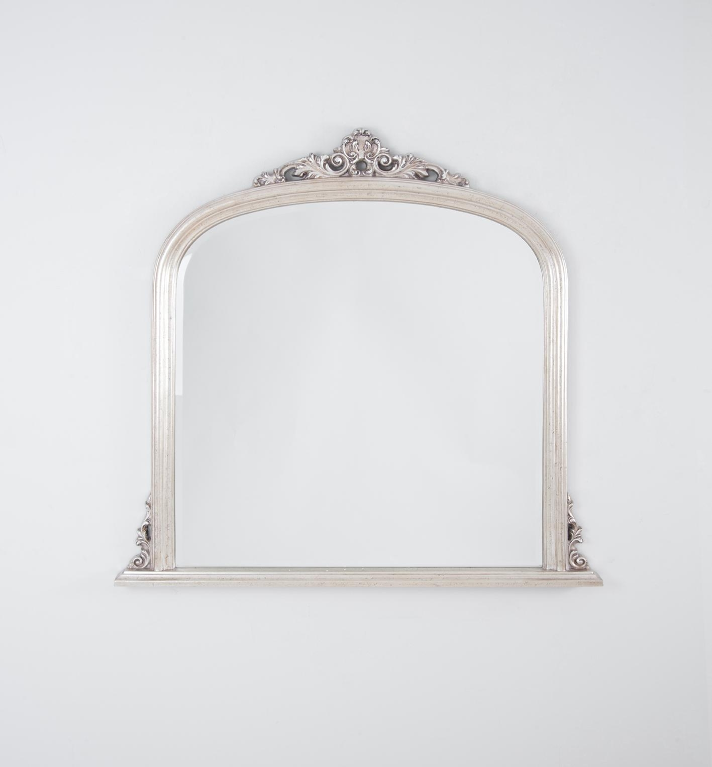 Domed Over Mantle Mirror | Warm Silver | The Block Shop Inside Mantle Mirror (Image 14 of 20)