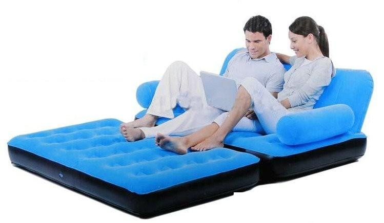 Double Seat 5 In 1 Inflatable Sofa Bed Hot Sale Manufacturers In Inflatable Sofa Beds Mattress (Image 9 of 20)