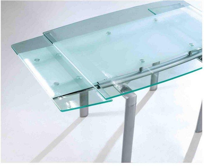 Download Glass Table With Extension Leaves | Buybrinkhomes Throughout Extendable Glass Dining Tables (View 19 of 20)