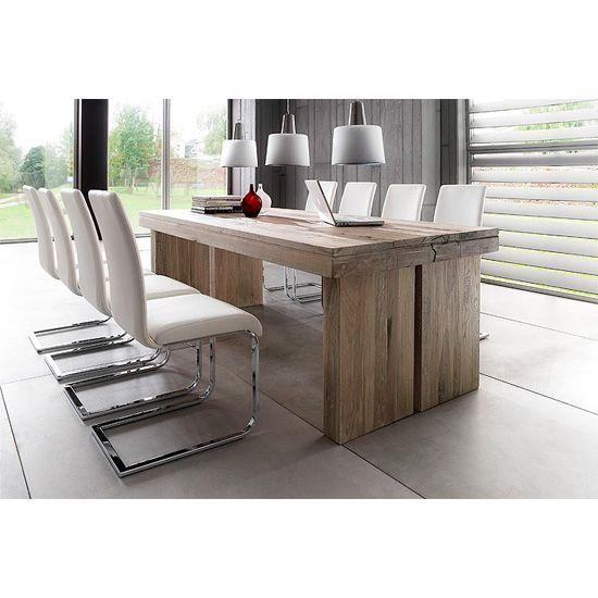Dublin 8 Seater Dining Table In Brown Solid Oak With Lotte Chair Throughout Eight Seater Dining Tables And Chairs (Image 15 of 20)