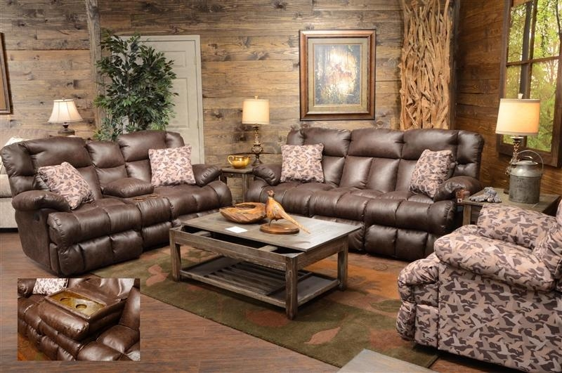 Duck Dynasty Cedar Creek Power Lay Flat Reclining Sofa With Drop Throughout Camo Reclining Sofas (View 12 of 20)
