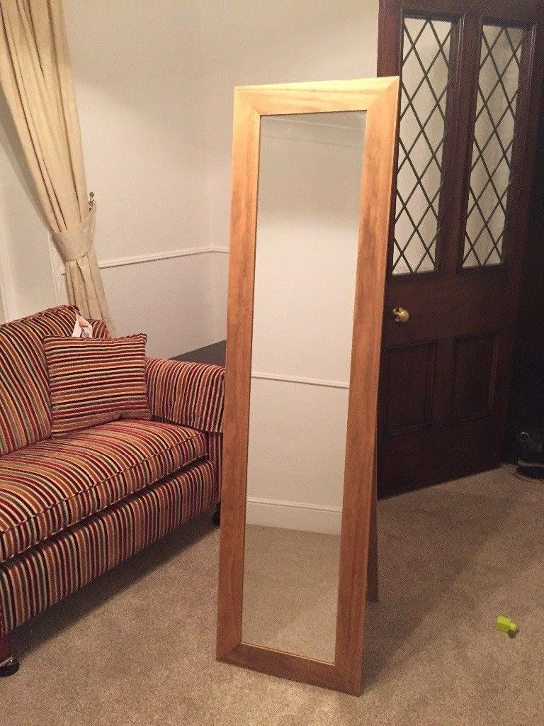 Dwell Full Length Free Standing Oak Mirror | In Barry, Vale Of Regarding Free Standing Oak Mirror (Image 10 of 20)