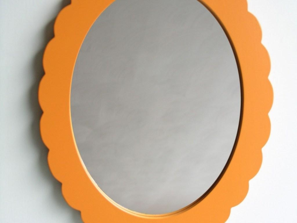 ▻ Decoration : Extraordinary Orange Vintage Ornament Oval Shape Throughout Oval Shaped Wall Mirrors (Image 1 of 20)