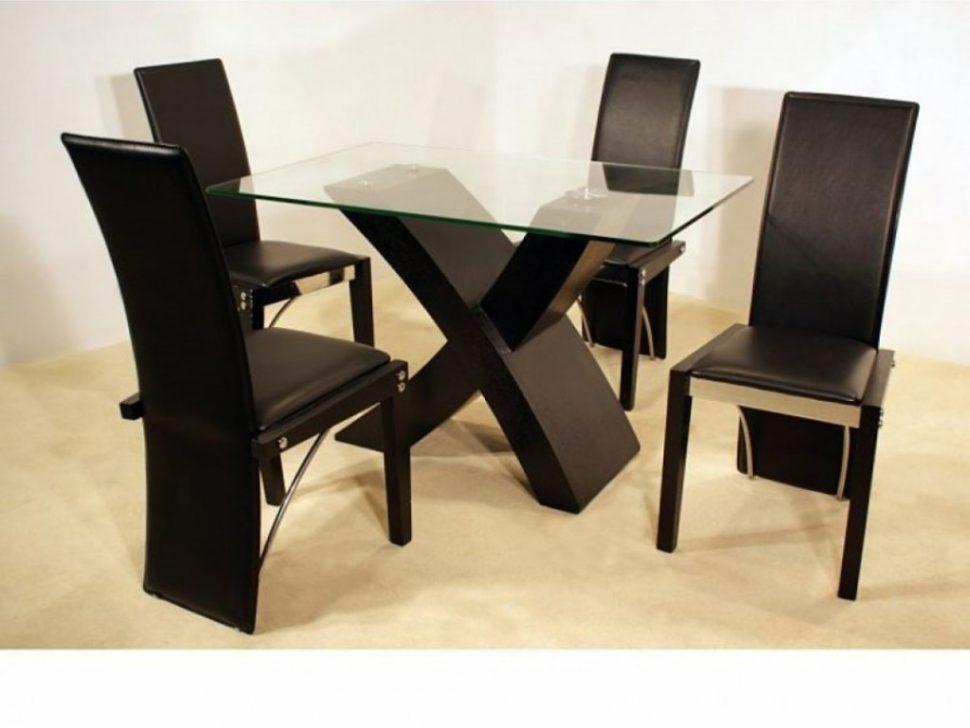 ▻ Kitchen Chairs : Dining Room Stunning Small Dining Room With Glass Dining Tables With Wooden Legs (View 17 of 20)