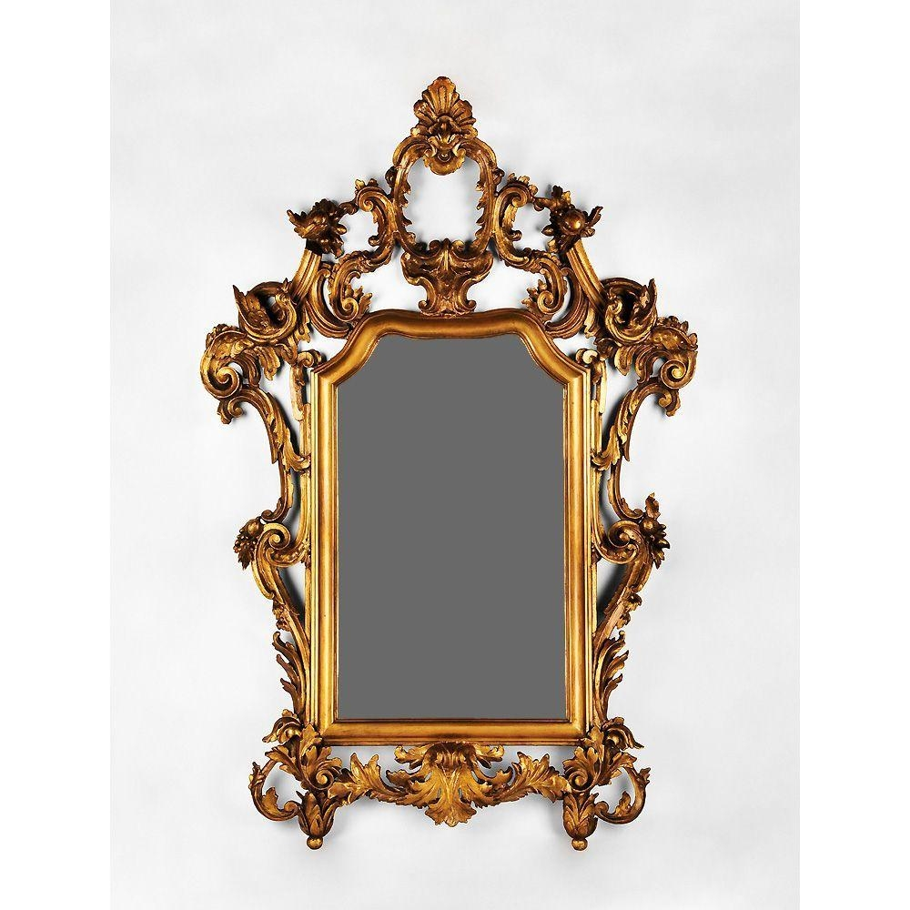 Early 19Th Century Hand Carved Italian Giltwood Rococo Mirror From Inside Roccoco Mirror (Image 8 of 20)