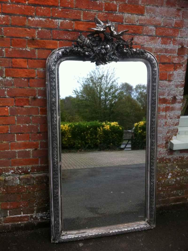 Early 19Th Century Large French Silvered Ornate Mirror – Antique In Ornate French Mirrors (Image 11 of 20)