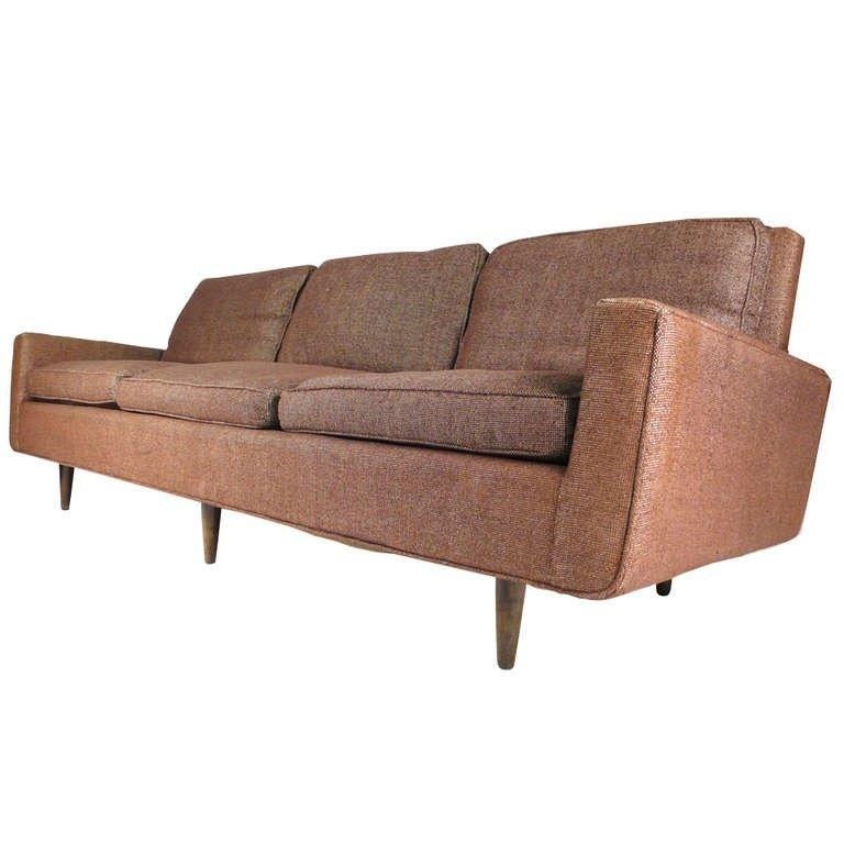 Early Florence Knoll Down Filled Sofa For Sale At 1Stdibs Intended For Knoll Sofas (Image 6 of 20)
