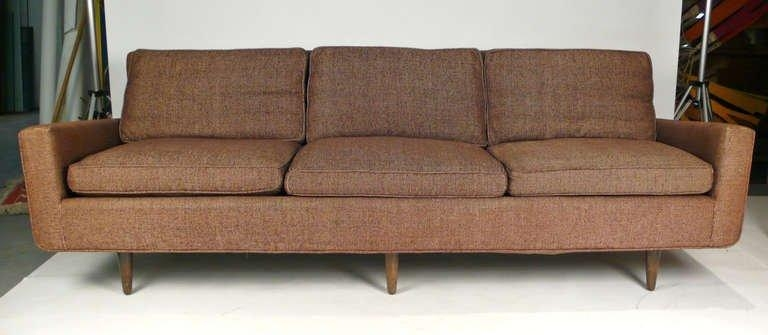 Early Florence Knoll Down Filled Sofa For Sale At 1Stdibs Regarding Knoll Sofas (Image 7 of 20)