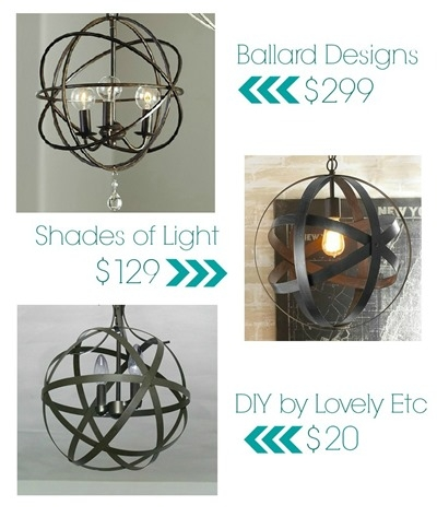 Easy And Inexpensive Diy Orb Chandelier Lovely Etc Regarding Turquoise Orb Chandeliers (Image 10 of 25)
