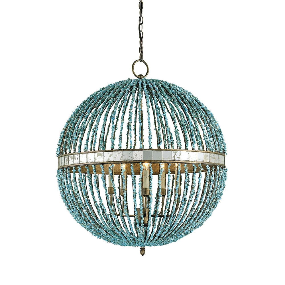Edvivi Antique Bronze Globe Sphere Cage Chandelier 5 Light Pendant For Orb Chandeliers (Image 16 of 25)
