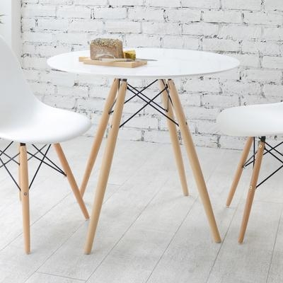 Eiffel Dining Table With Beech Legs Small – Dwell Inside Beech Dining Tables And Chairs (Image 15 of 20)