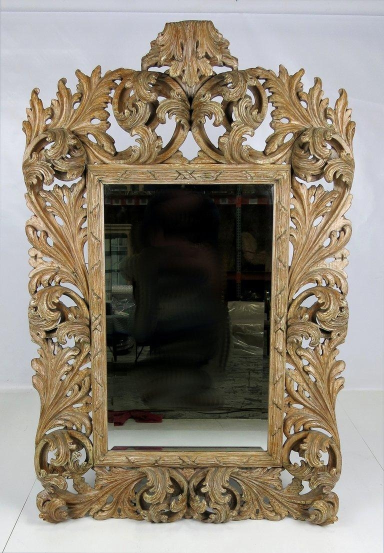 Elaborately Carved Rococo Mirror For Sale At 1Stdibs Pertaining To Roccoco Mirror (Image 9 of 20)