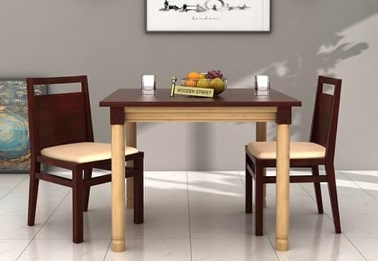 Elegant 2 Seat Dining Table And Chairs Front 533X (Image 12 of 20)
