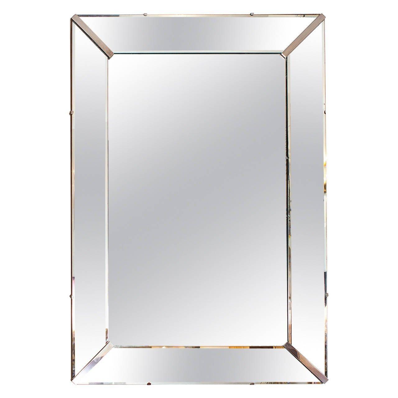 Elegant Art Deco Wall Mirror, France Circa 1940 At 1Stdibs In Art Deco Wall Mirror (Image 12 of 20)