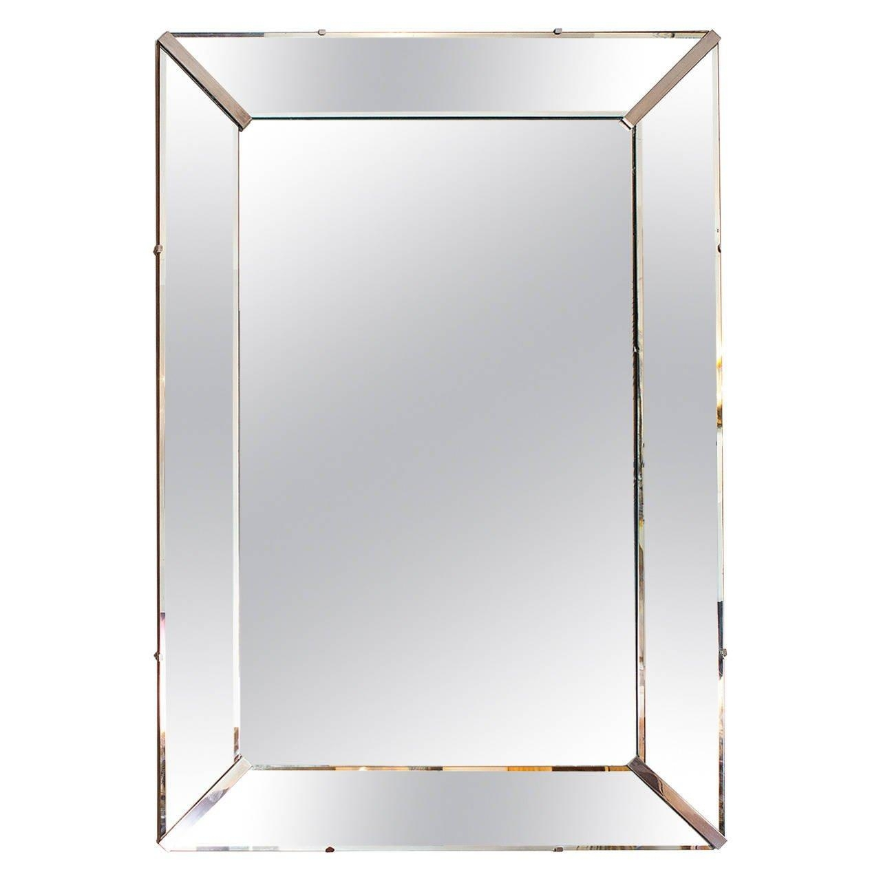 Elegant Art Deco Wall Mirror, France Circa 1940 At 1Stdibs Intended For Art Deco Wall Mirrors (View 2 of 20)
