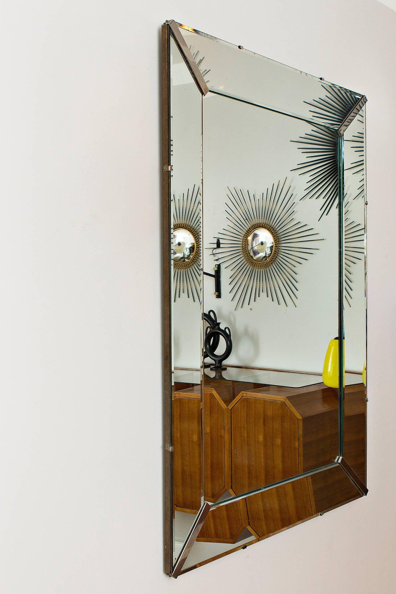 Elegant Art Deco Wall Mirror, France Circa 1940 At 1Stdibs Regarding Art Deco Wall Mirrors (View 5 of 20)