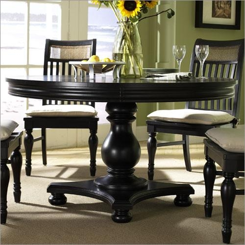 Elegant Black Circular Dining Table In Decorating Home Ideas With Intended For Black Circular Dining Tables (View 7 of 20)