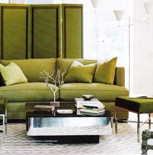 Elegant Chartreuse Interiors – Inspirationcolor Intended For Chartreuse Sofas (View 9 of 20)