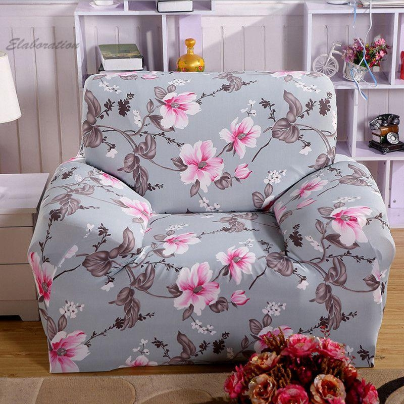 Elegant Floral Sofa Slipcover Elastic Stretch Sofa Cover Cotton For Floral Sofa Slipcovers (View 11 of 20)