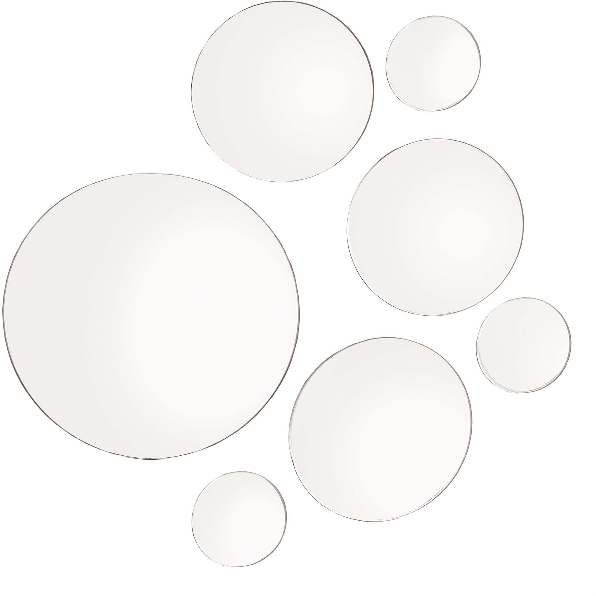 Elements Set Of 7 Round Mirrors, 9 Inch , 6 Inch And 3 Inch Within Round Mirrors (Image 6 of 20)