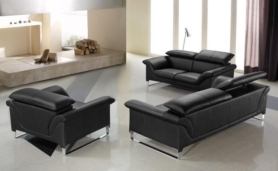 Featured Image of Contemporary Black Leather Sofas