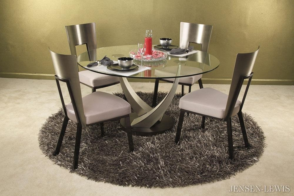 Elite Crystal Round Dining Table 394Rnd 48 | Jensen Lewis New York Pertaining To Crystal Dining Tables (View 10 of 20)