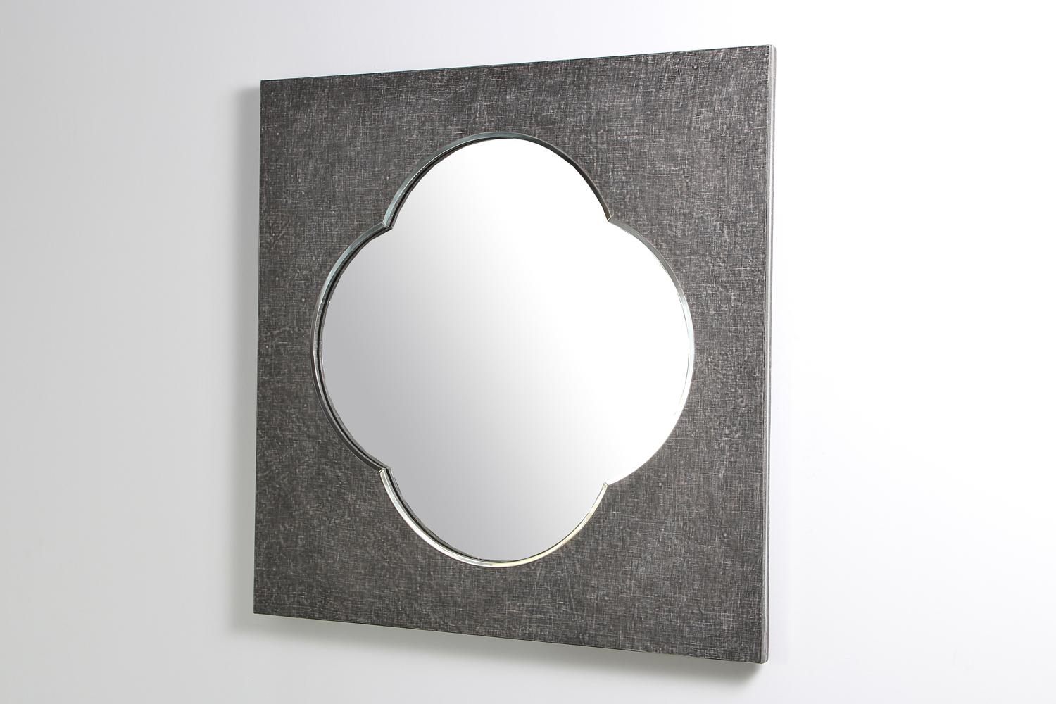 Ely Mirror – Charcoal Linen | Forwood Design In Modern Silver Mirror (Image 6 of 20)
