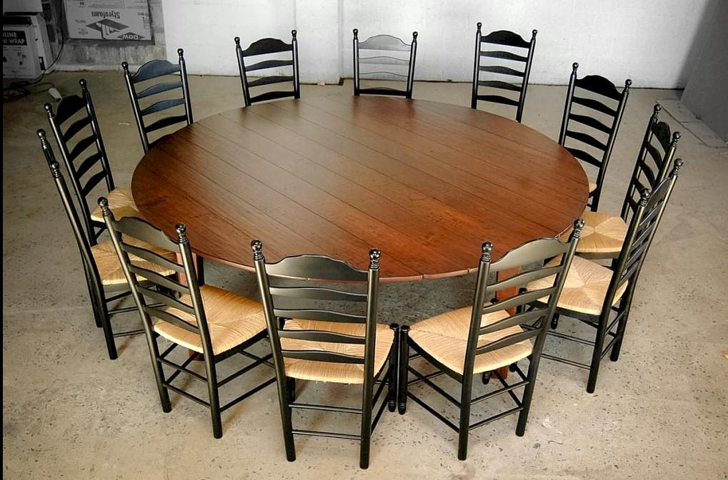 Emejing Round Dining Table For 8 Wood Photos – Chyna – Chyna Pertaining To Large Circular Dining Tables (Image 9 of 20)