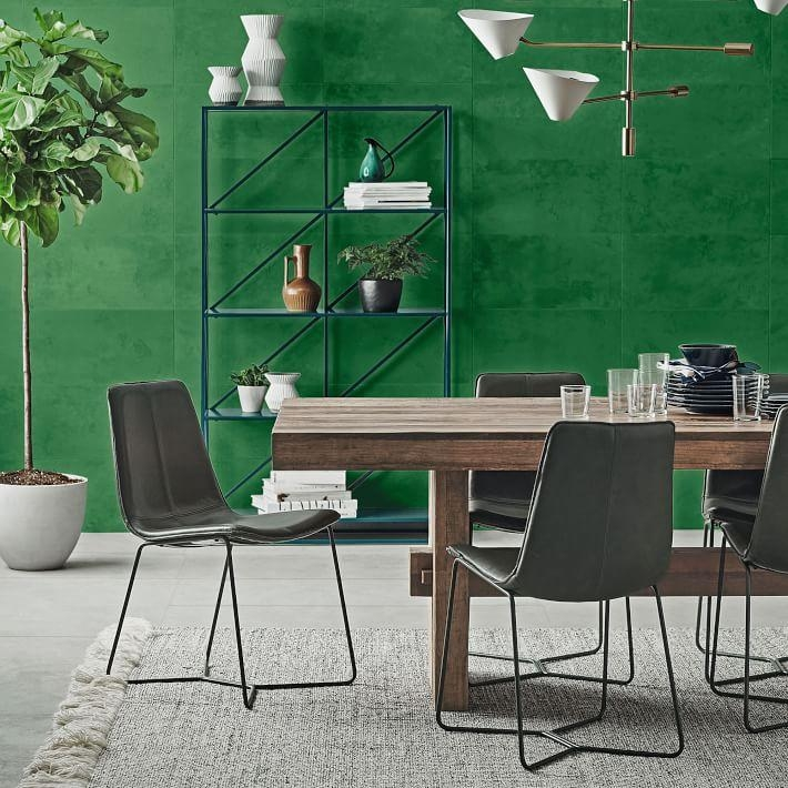 Emmerson® Reclaimed Wood Dining Table | West Elm Throughout Green Dining Tables (Image 15 of 20)