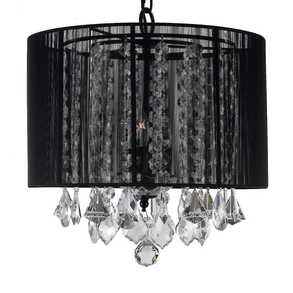 Empress Crystal 3 Light Black Chandelier With Shade T40 383 The Throughout Chandelier With Shades And Crystals (Image 17 of 25)