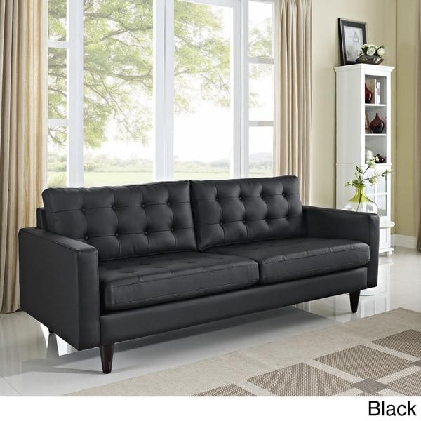 Empress Tufted Bonded Leather Sofa – Free Shipping Today In Bonded Leather Sofas (View 19 of 20)
