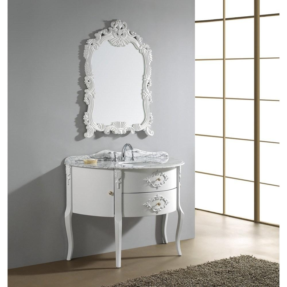 Endearing Small Bathroom Home Decoration Introduce Sensational Throughout White Antique Mirrors (View 18 of 20)