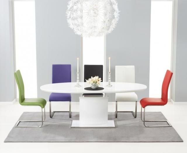 Endearing White Extending Dining Table And Chairs White High Gloss Regarding White Gloss Dining Tables (Image 7 of 20)
