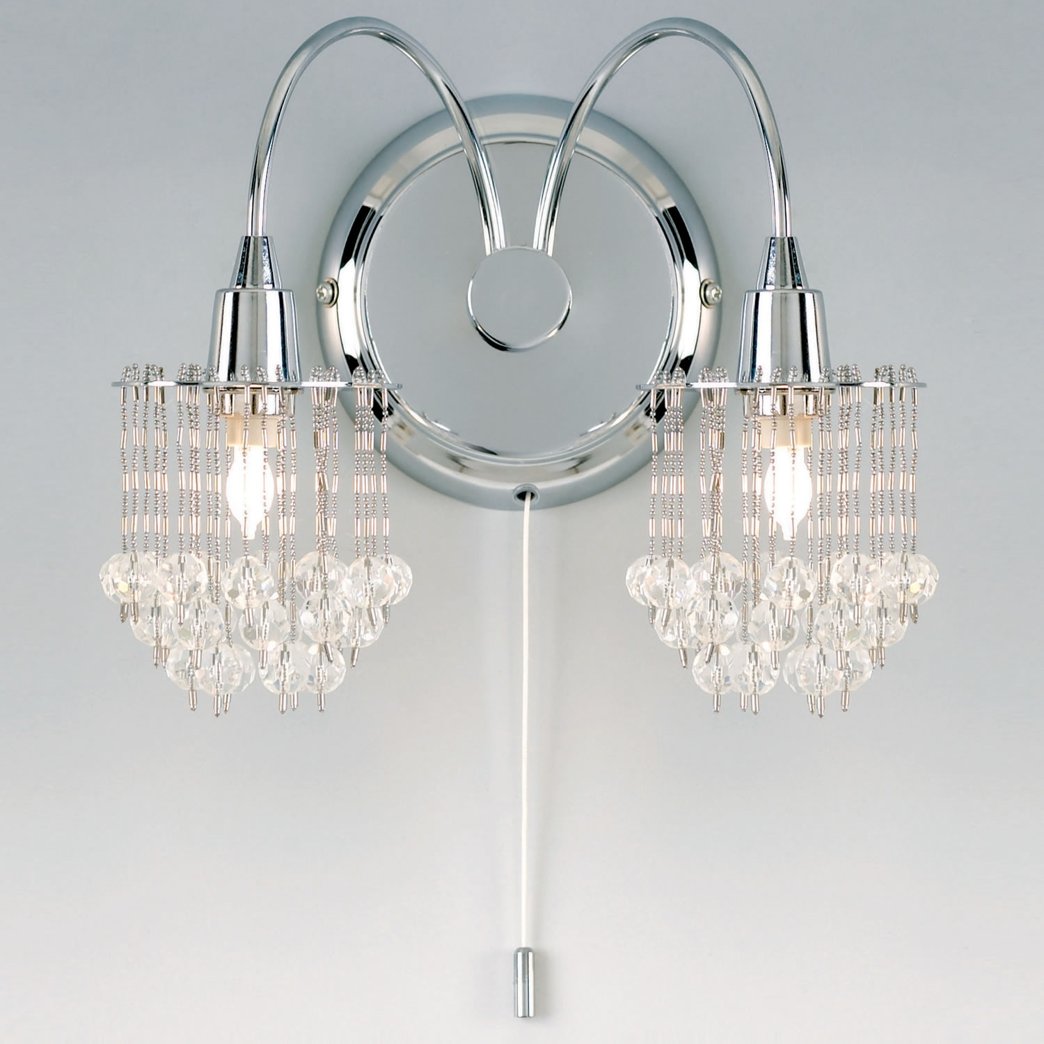 Endon Lighting 2 Light Wall Light In Crystal 850 2 Next Day Next Pertaining To Endon Lighting Chandeliers (Image 11 of 25)