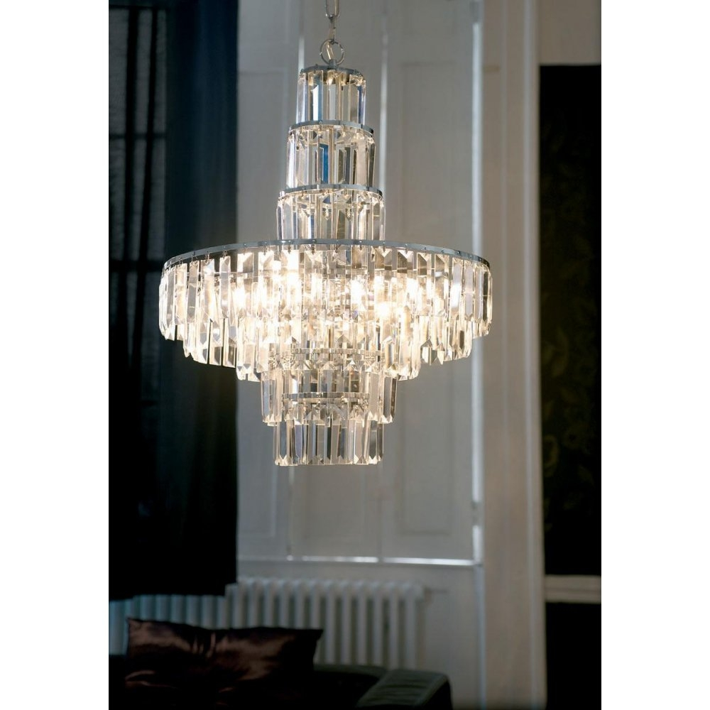Endon Otello 5 Light Crystal Chandelierendon 96735 Ch Intended For Endon Lighting Chandeliers (Image 18 of 25)