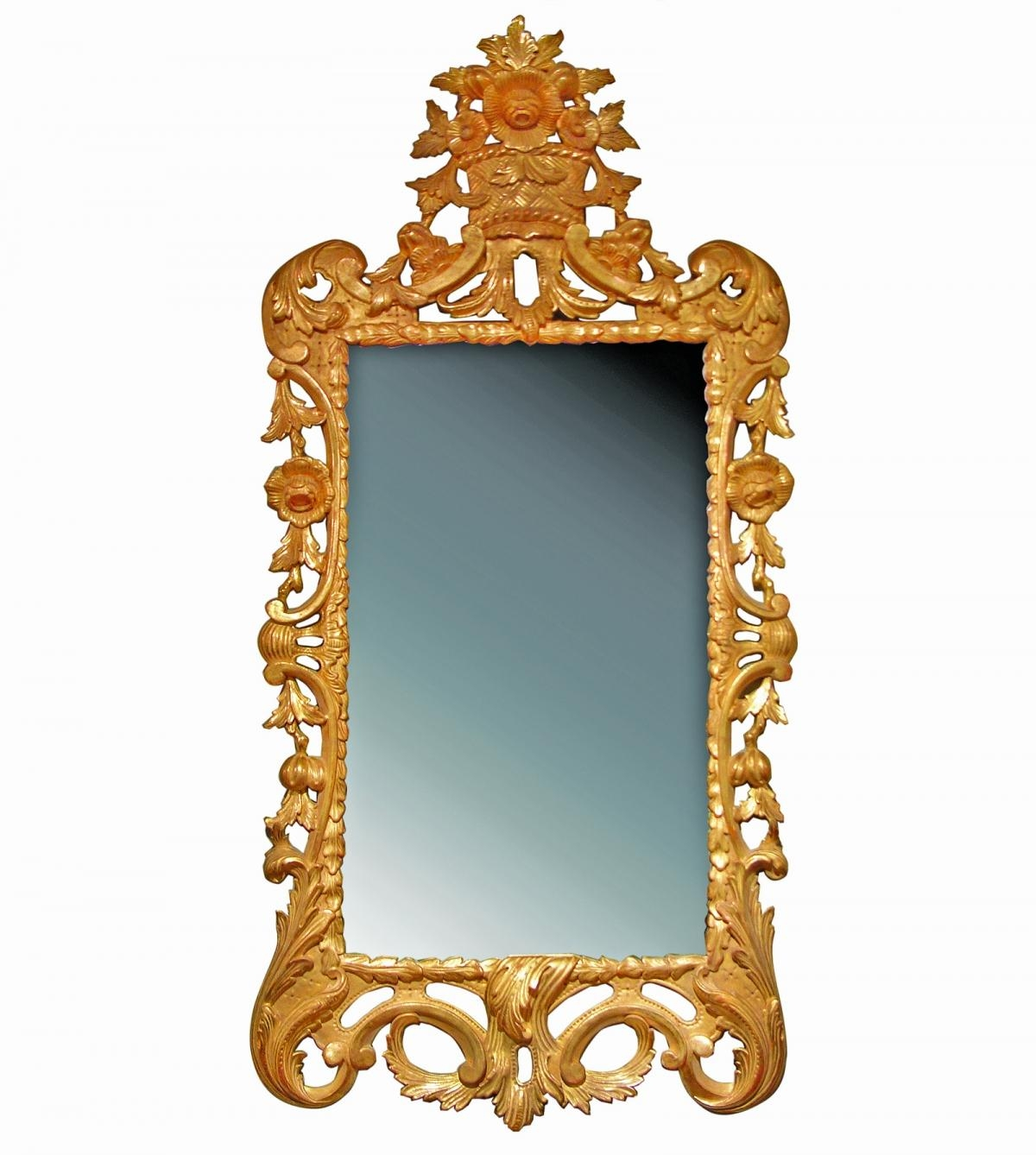 English Georgian | A56 George Iii Rococo Mirror | Hand Carved Gilt Within Roccoco Mirror (Image 10 of 20)