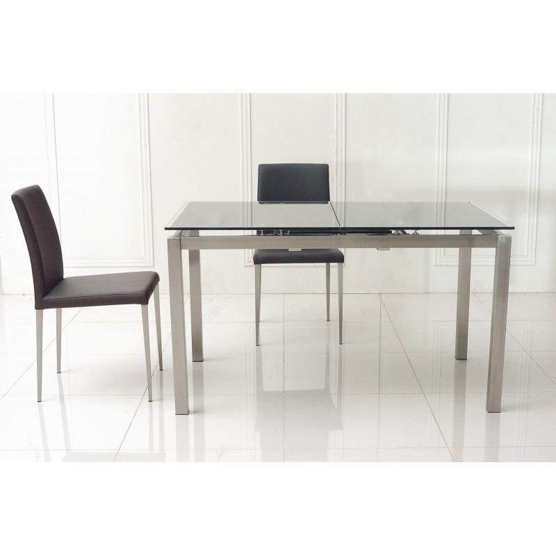 Enterprise Extendable Glass Dining Table – All World Furniture With Glass Folding Dining Tables (Image 7 of 20)