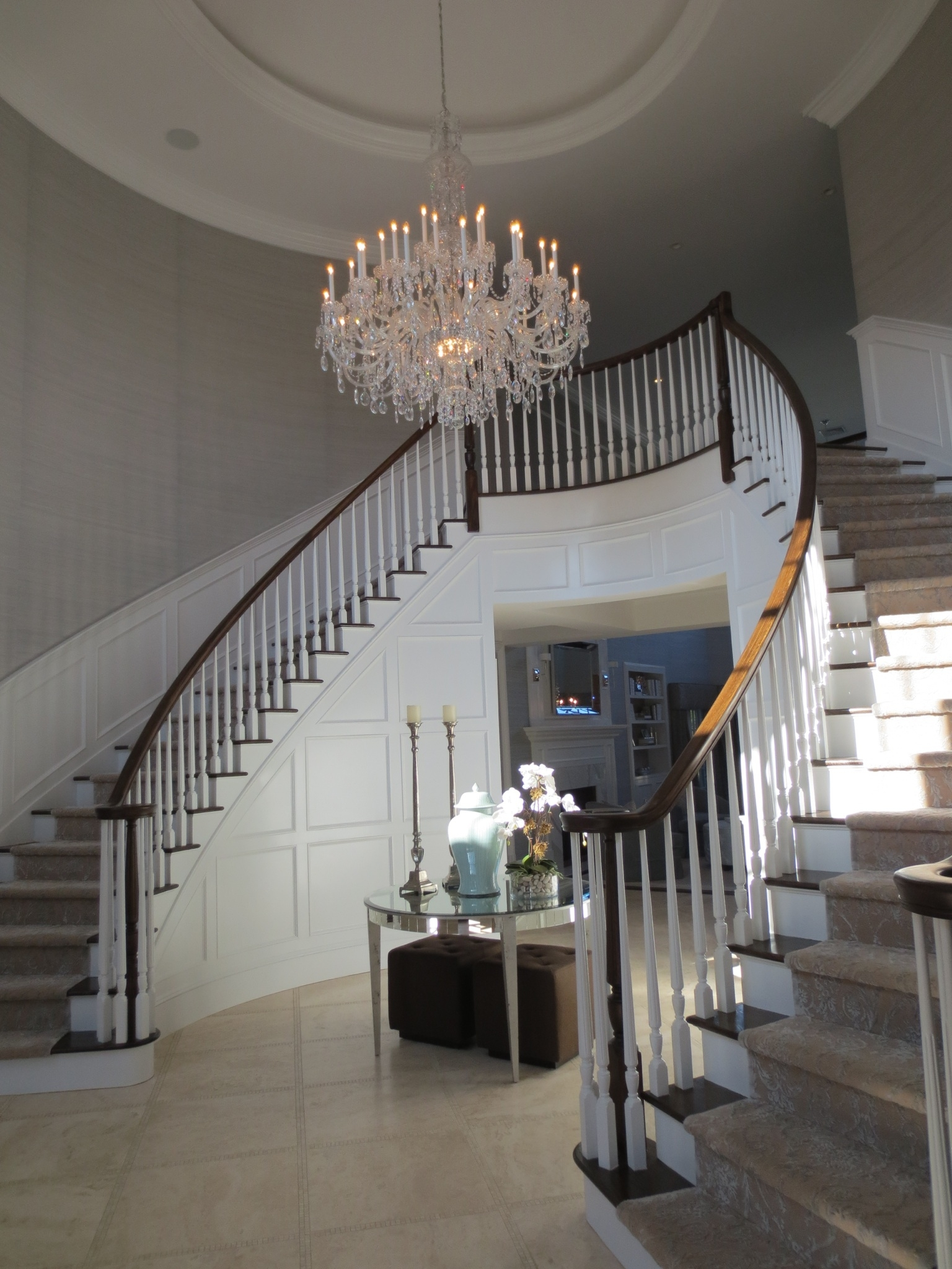 Entryway Chandeliers Modern The Right Height To Hang Entryway Regarding Hallway Chandeliers (Image 12 of 25)