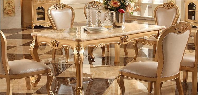 European Long Marble Dining Table Dining Table Dinette Combination Within Imperial Dining Tables (Image 7 of 20)