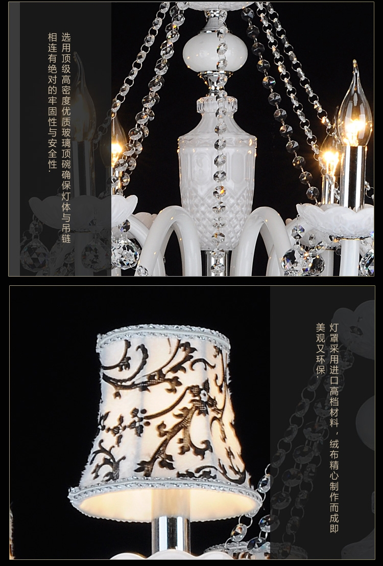 European Style Decorative Chandelier Bedroom Led Chandelier Living Pertaining To Led Candle Chandeliers (Image 7 of 25)